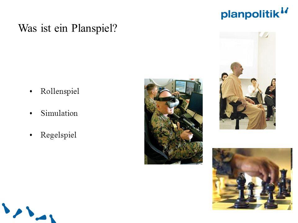 Was ist ein Planspiel Rollenspiel Simulation Regelspiel