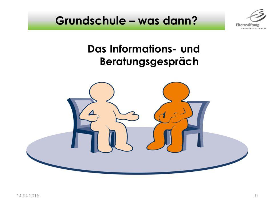 Das Informations- und Beratungsgespräch