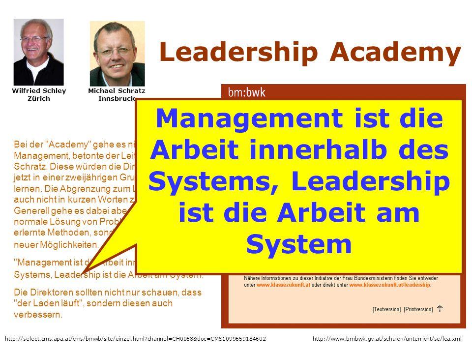Wilfried Schley Zürich Michael Schratz Innsbruck
