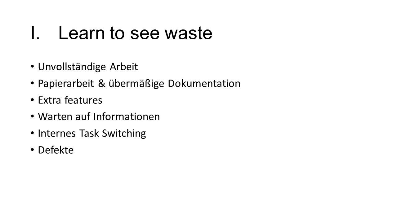 Learn to see waste Unvollständige Arbeit