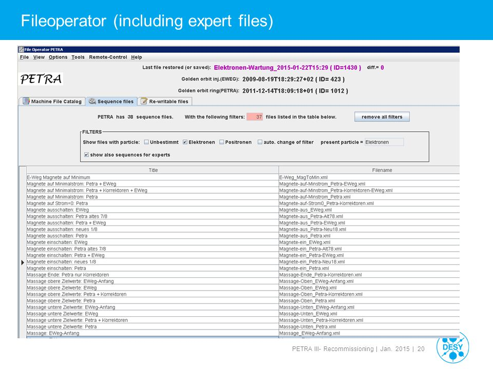 Fileoperator (including expert files)