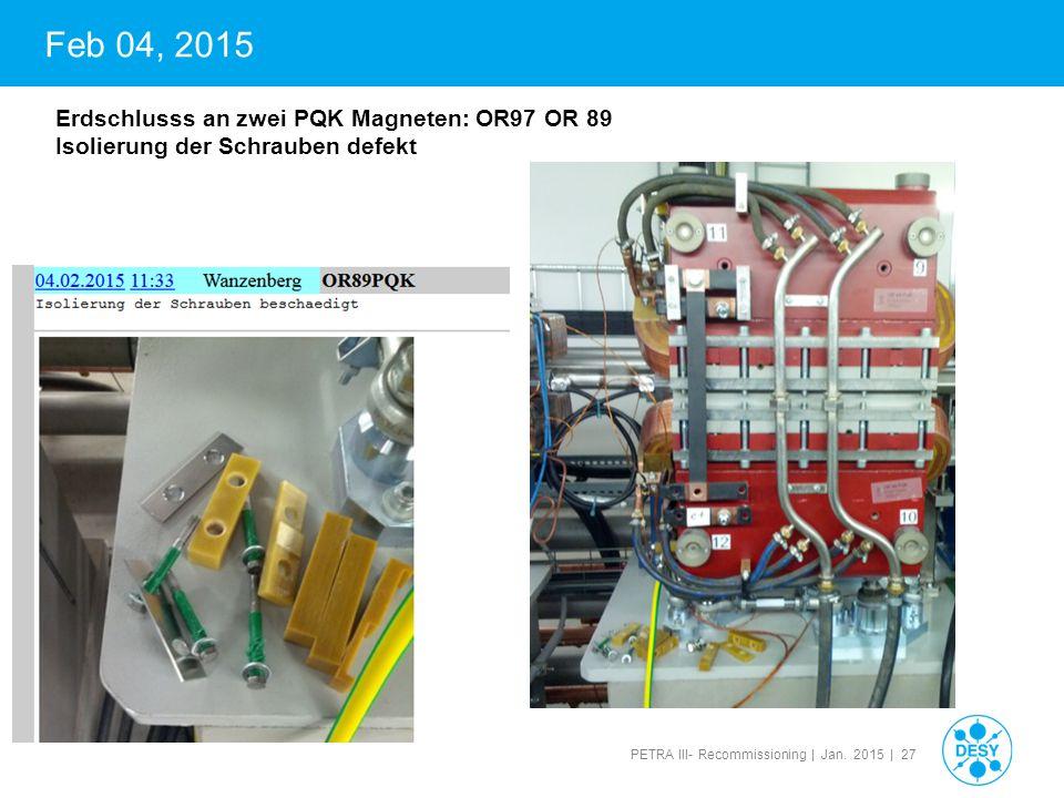 Feb 04, 2015 Erdschlusss an zwei PQK Magneten: OR97 OR 89