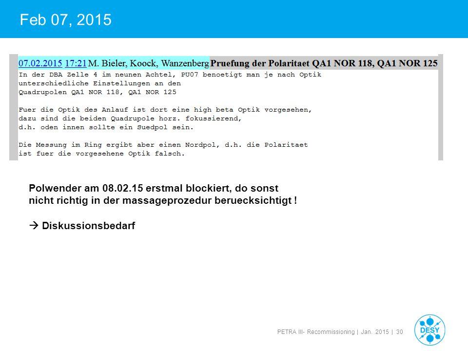 Feb 07, 2015 Polwender am 08.02.15 erstmal blockiert, do sonst