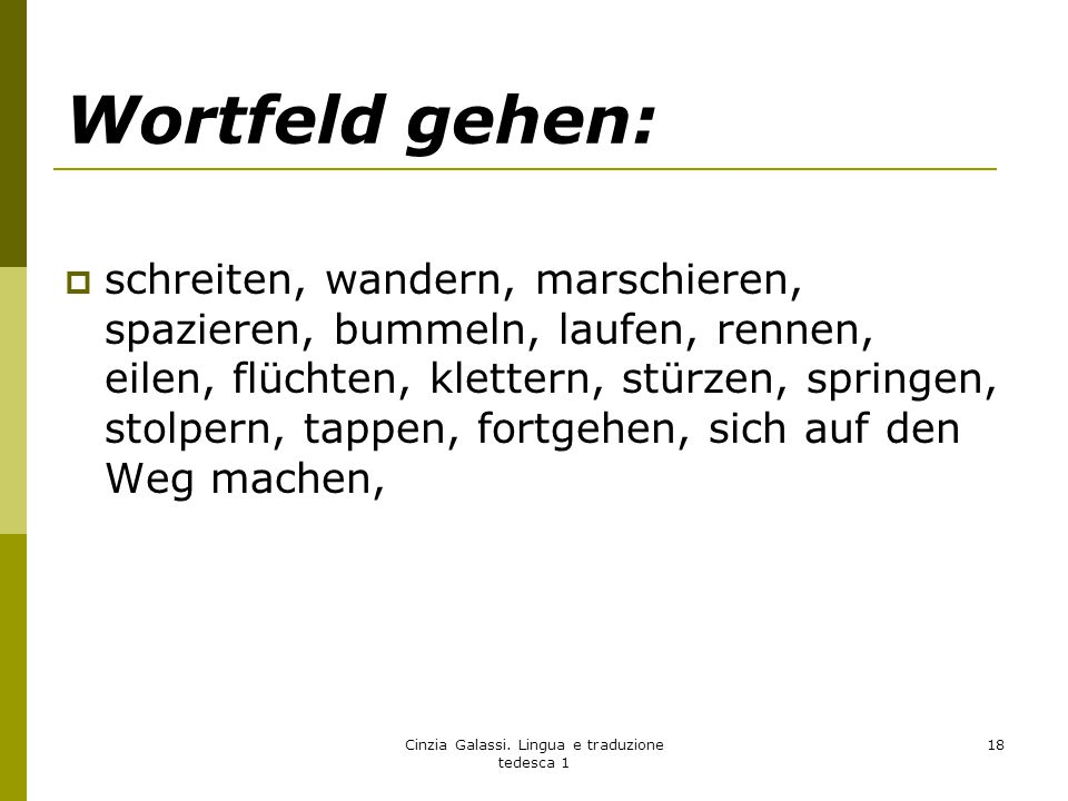 Cinzia Galassi. Lingua e traduzione tedesca 1