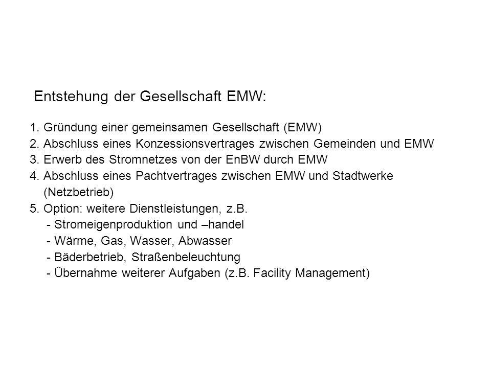Entstehung der Gesellschaft EMW: