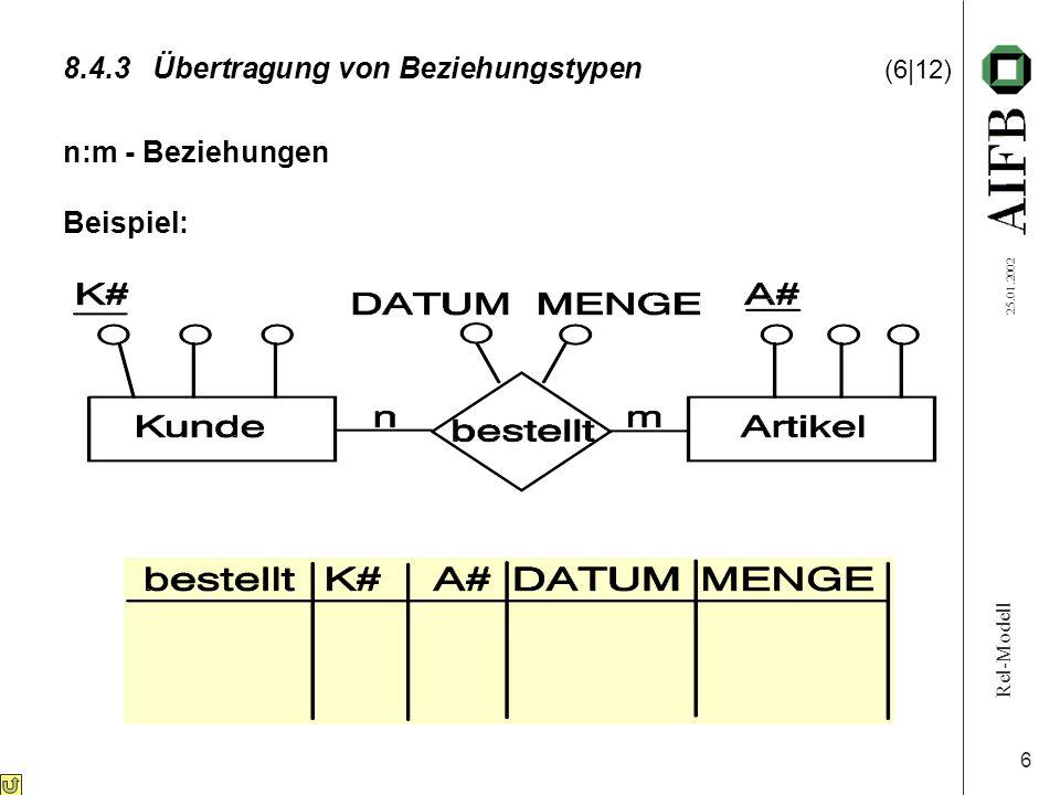 8.4.3 Übertragung von Beziehungstypen (6|12)