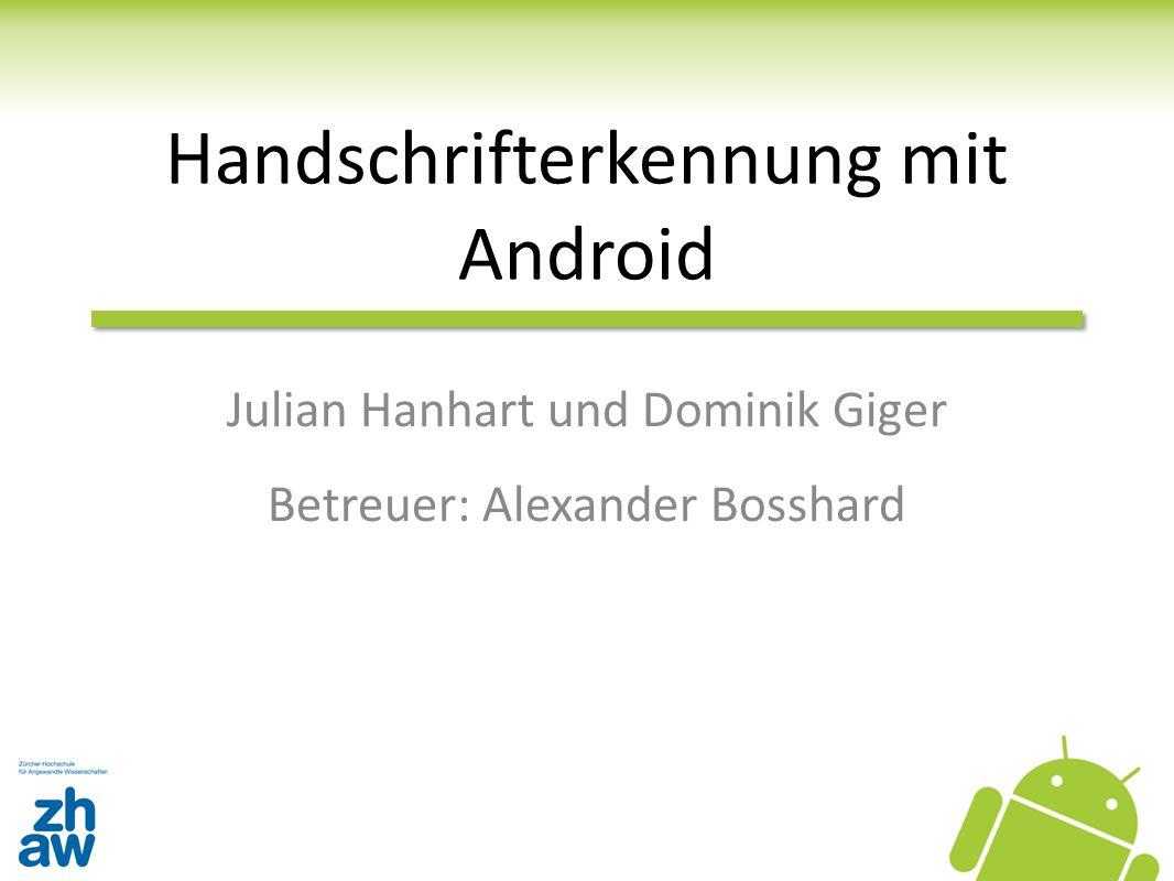 Handschrifterkennung mit Android