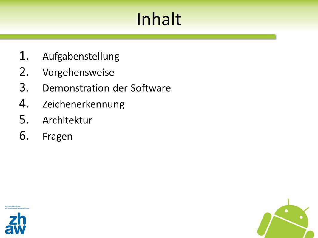 Inhalt Aufgabenstellung Vorgehensweise Demonstration der Software