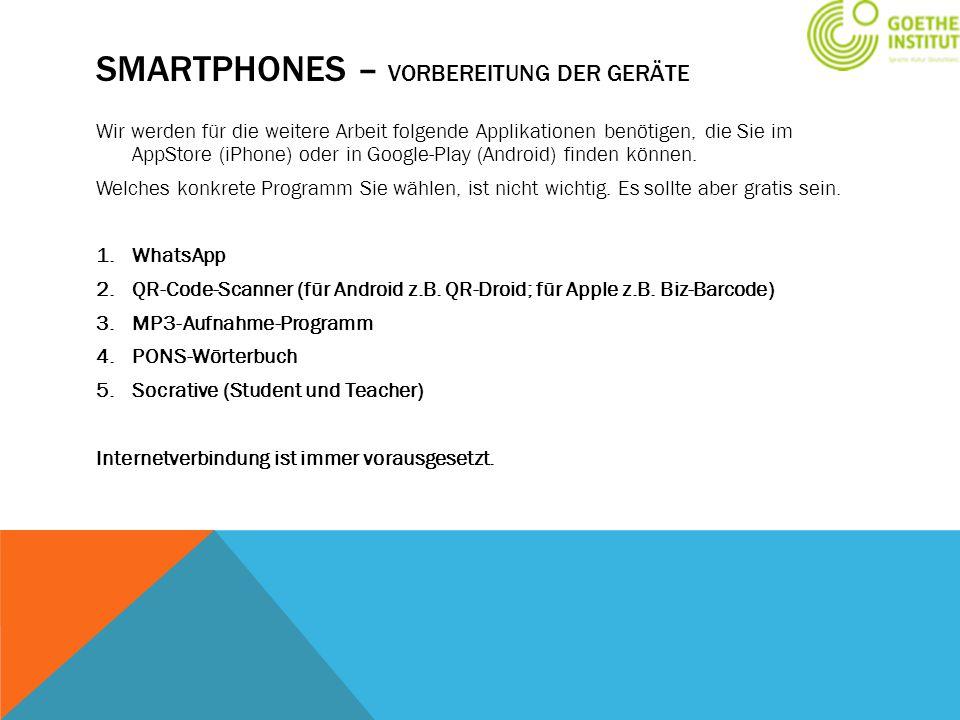 Smartphones – Vorbereitung der GerÄte