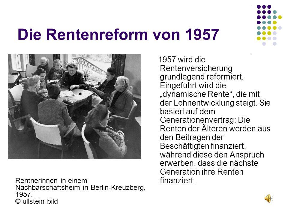 Die Rentenreform von 1957