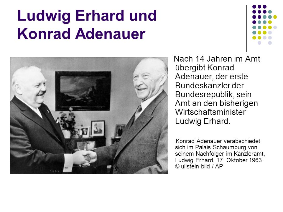 Ludwig Erhard und Konrad Adenauer