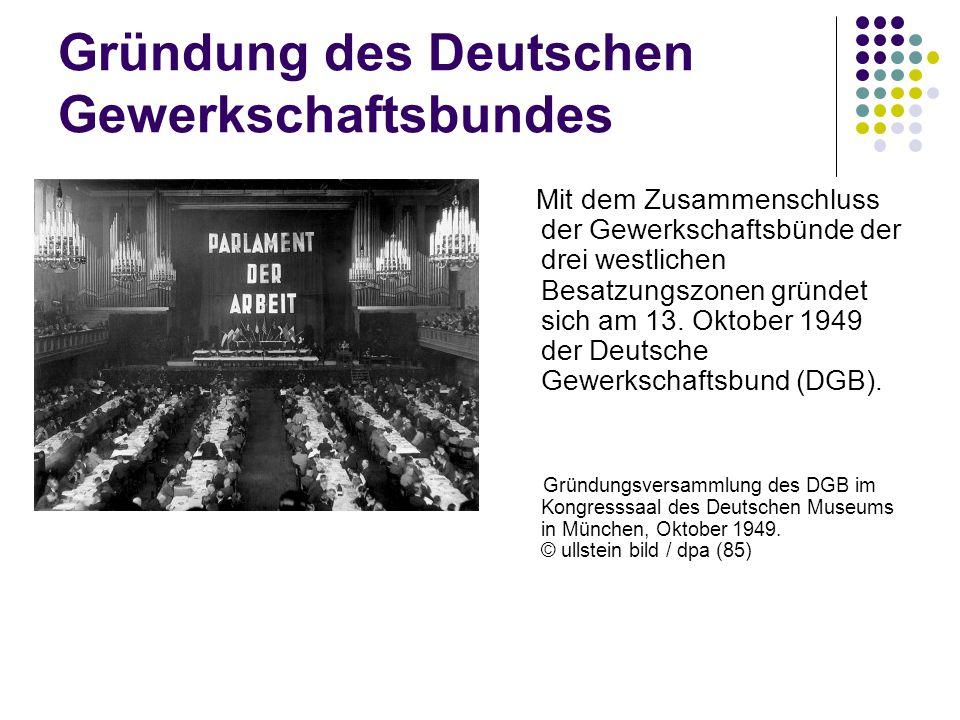 Gründung des Deutschen Gewerkschaftsbundes