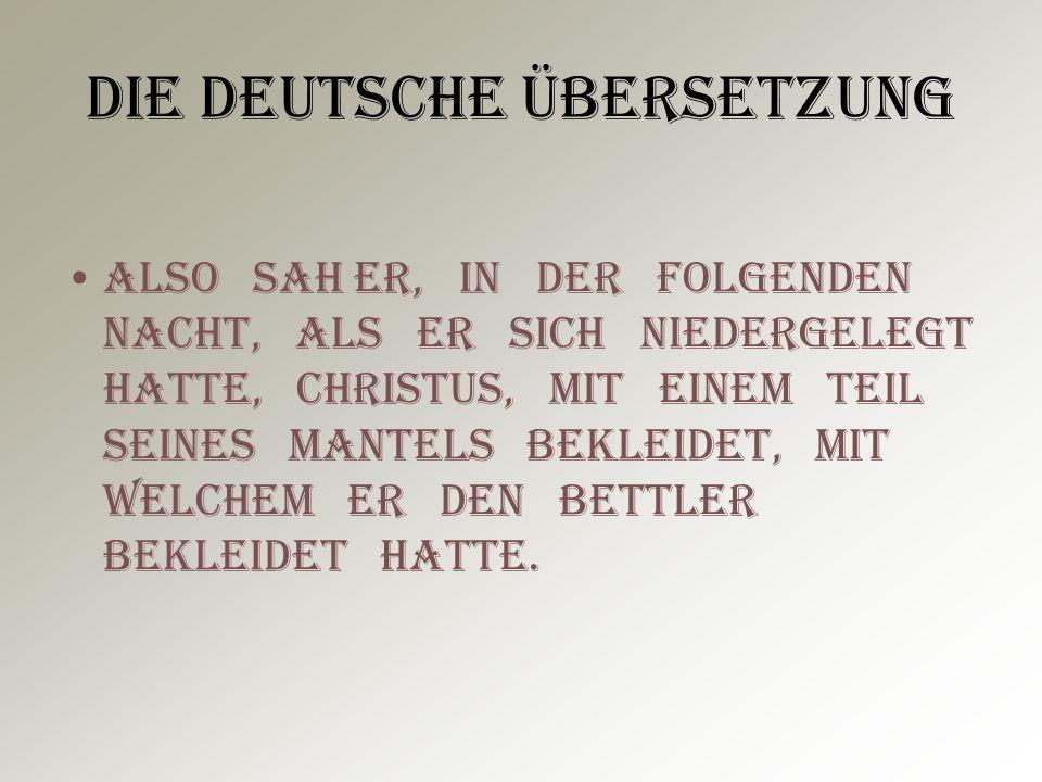 Die deutsche Übersetzung