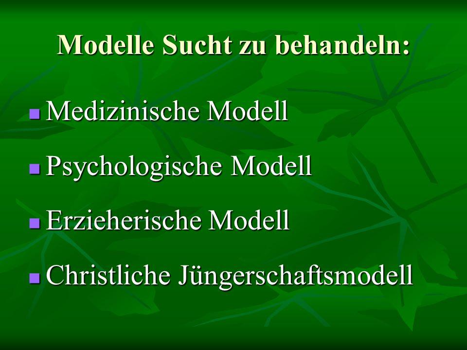 Modelle Sucht zu behandeln: