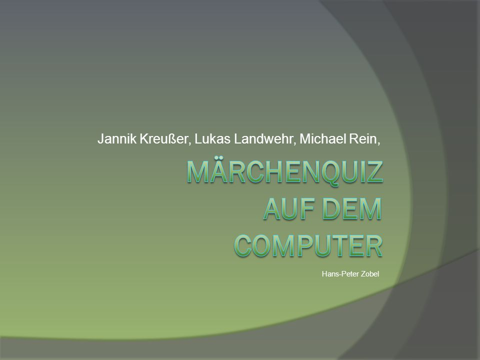 Märchenquiz auf dem Computer
