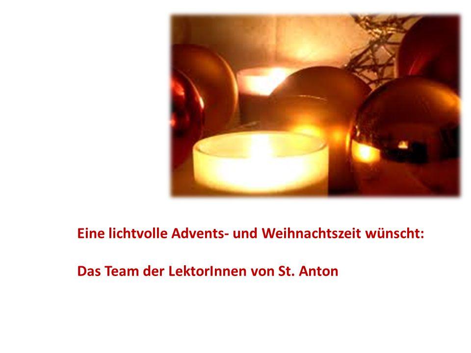 Eine lichtvolle Advents- und Weihnachtszeit wünscht:
