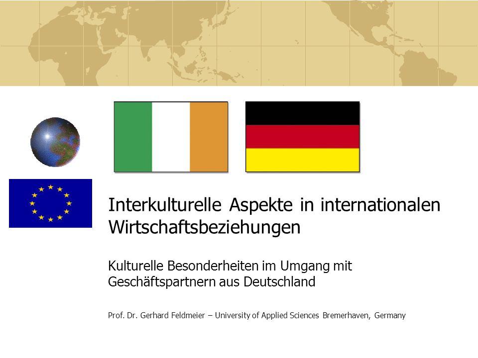 Interkulturelle Aspekte in internationalen Wirtschaftsbeziehungen