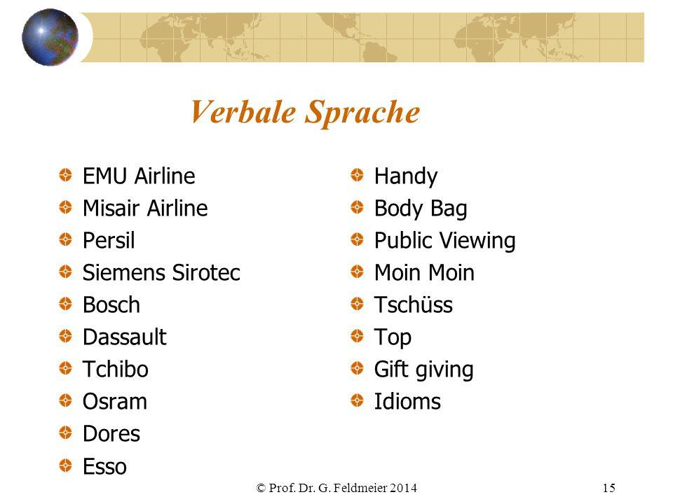 Verbale Sprache EMU Airline Misair Airline Persil Siemens Sirotec