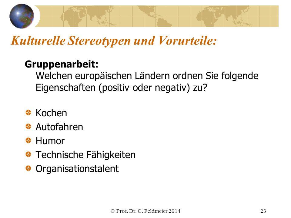 Kulturelle Stereotypen und Vorurteile: