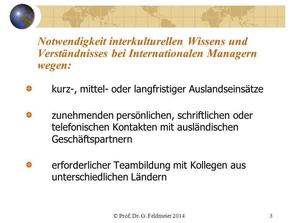 Notwendigkeit interkulturellen Wissens und Verständnisses bei Internationalen Managern wegen:
