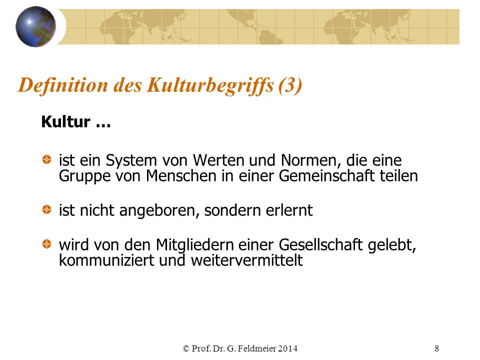 Definition des Kulturbegriffs (3)