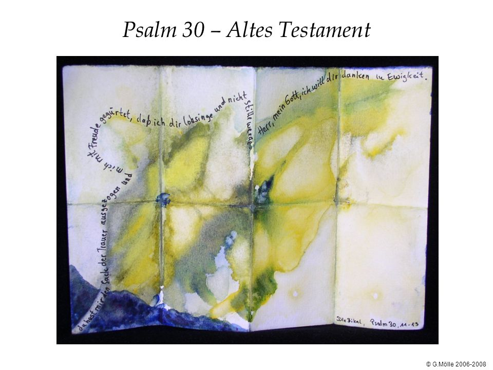 Psalm 30 – Altes Testament