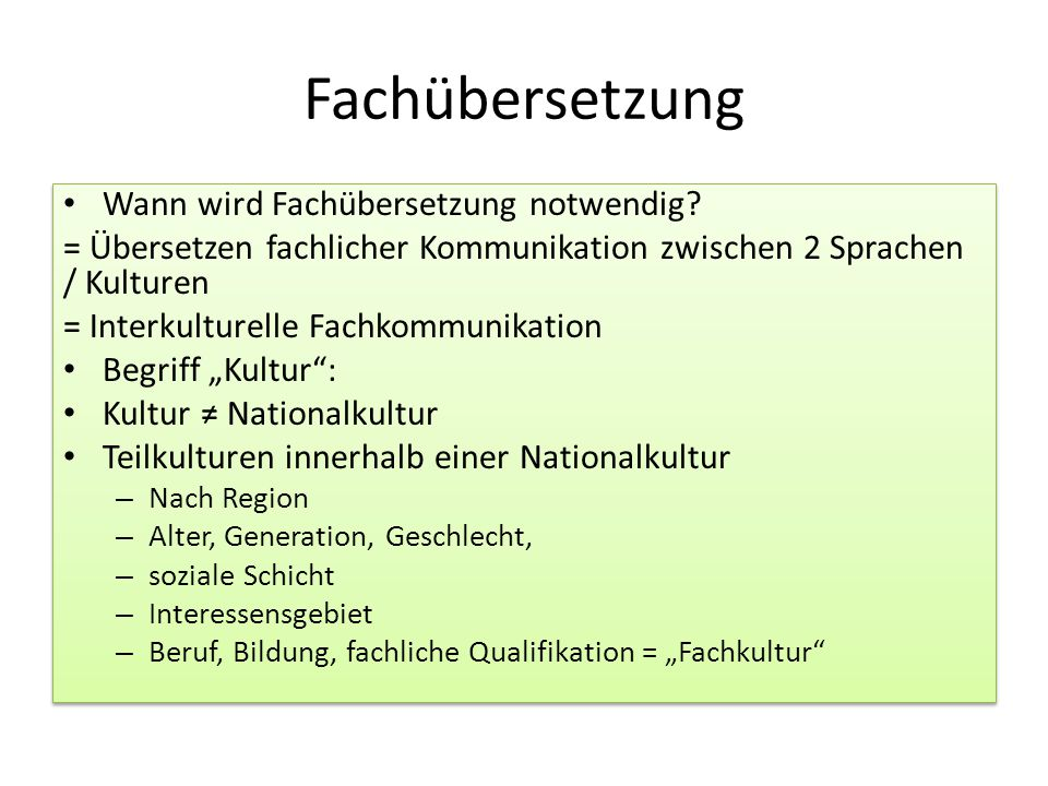 Fachübersetzung Wann wird Fachübersetzung notwendig
