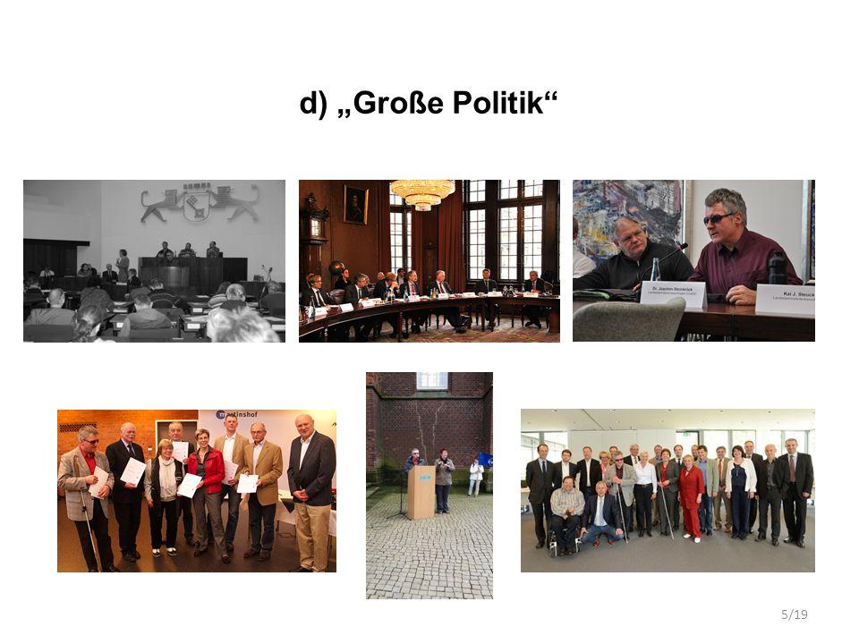 """d) """"Große Politik"""