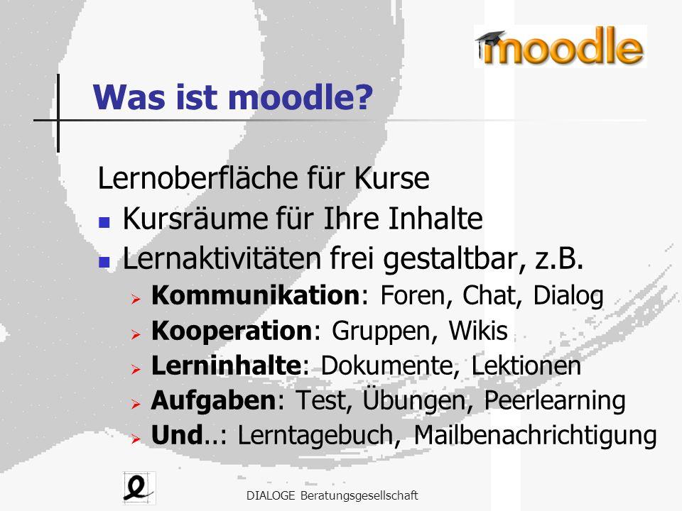 Was ist moodle Lernoberfläche für Kurse Kursräume für Ihre Inhalte