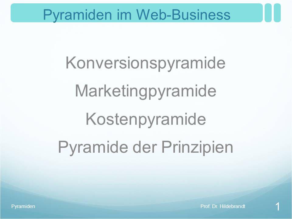 Pyramiden im Web-Business