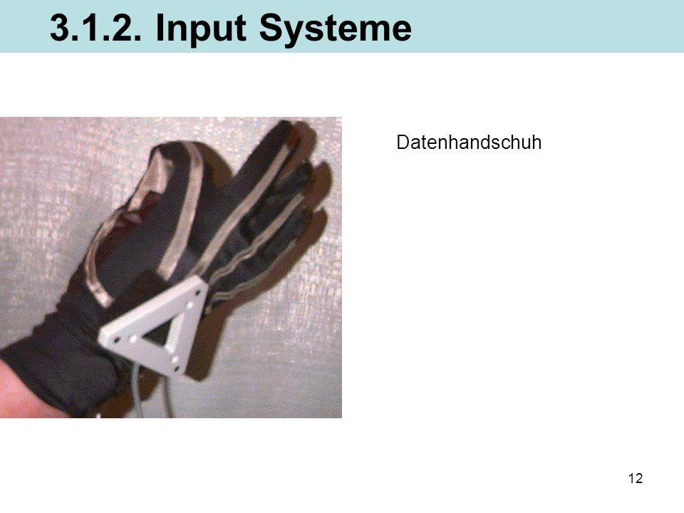 3.1.2. Input Systeme Datenhandschuh