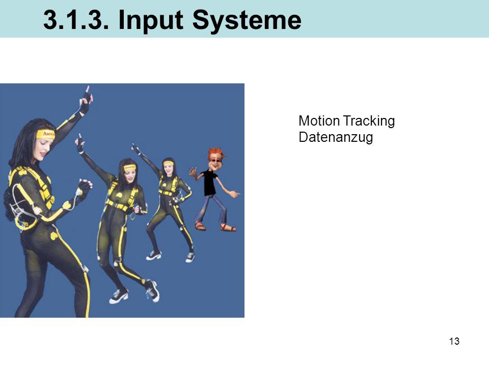 3.1.3. Input Systeme Motion Tracking Datenanzug