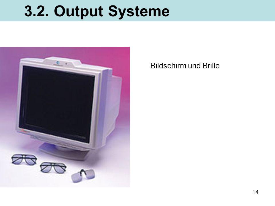 3.2. Output Systeme Bildschirm und Brille