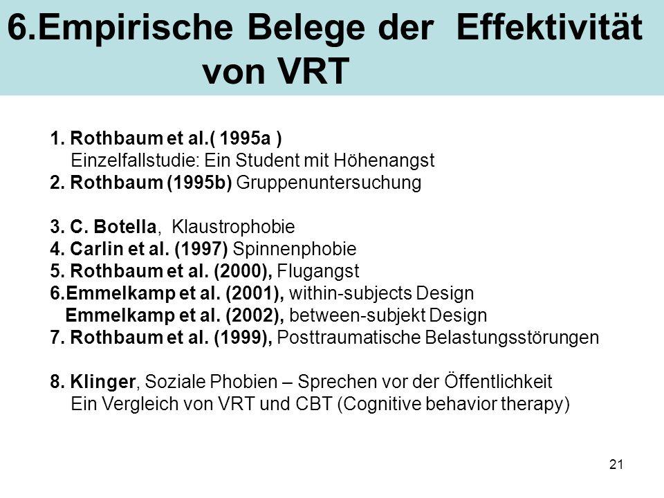 6.Empirische Belege der Effektivität von VRT