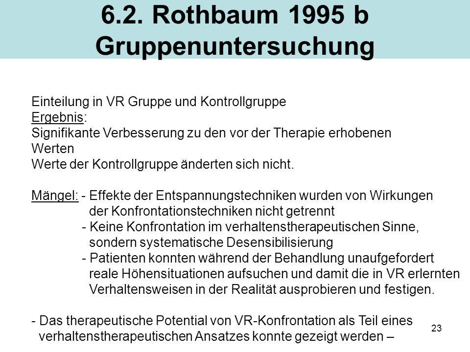 6.2. Rothbaum 1995 b Gruppenuntersuchung