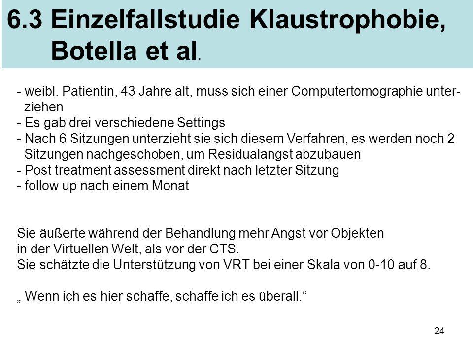 6.3 Einzelfallstudie Klaustrophobie, Botella et al.