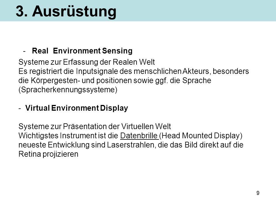 - Real Environment Sensing