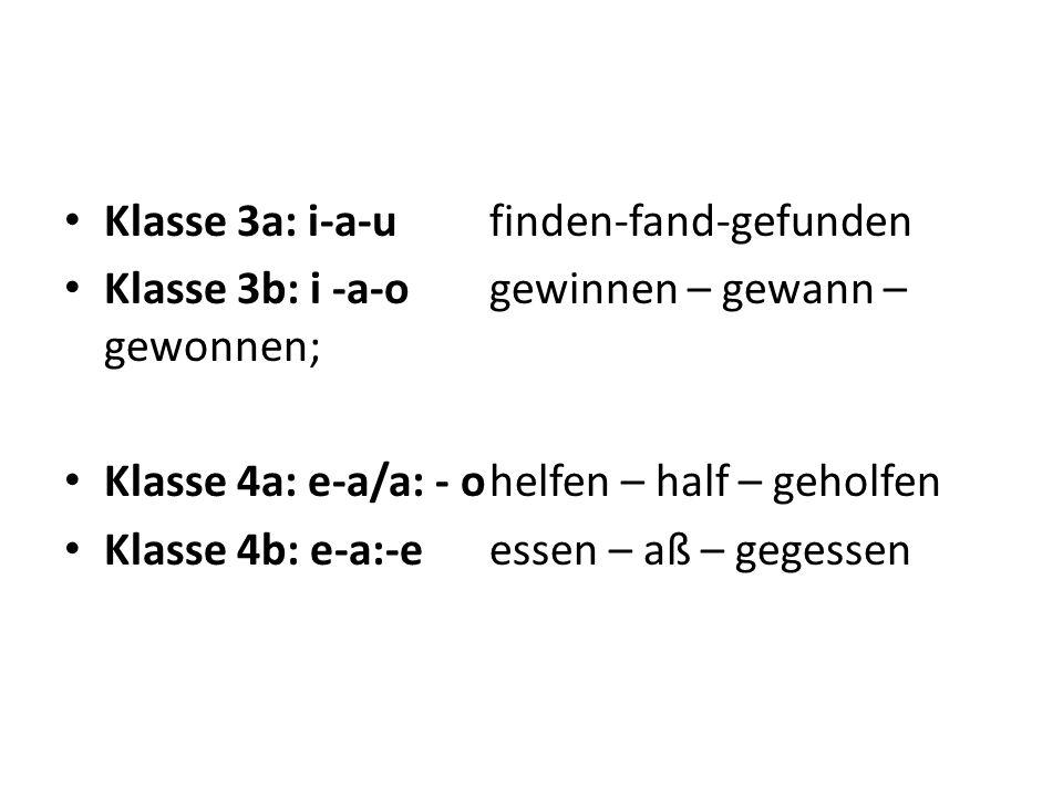 Klasse 3a: i-a-u finden-fand-gefunden