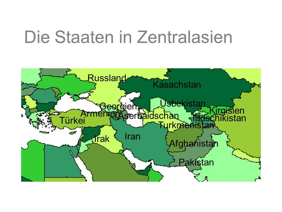 Die Staaten in Zentralasien