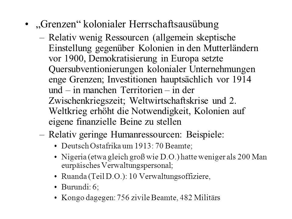 """Grenzen kolonialer Herrschaftsausübung"