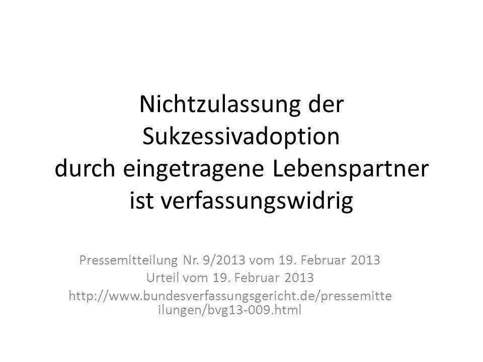 Pressemitteilung Nr. 9/2013 vom 19. Februar 2013