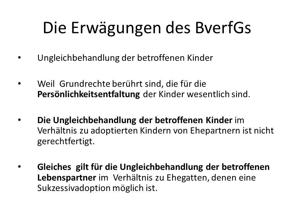 Die Erwägungen des BverfGs