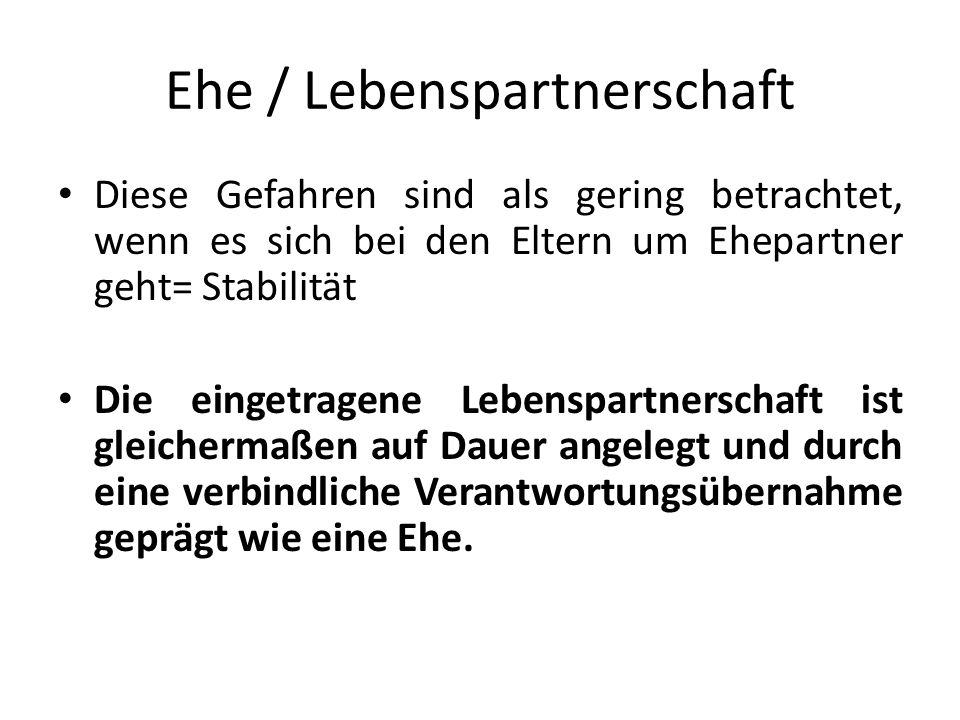 Ehe / Lebenspartnerschaft