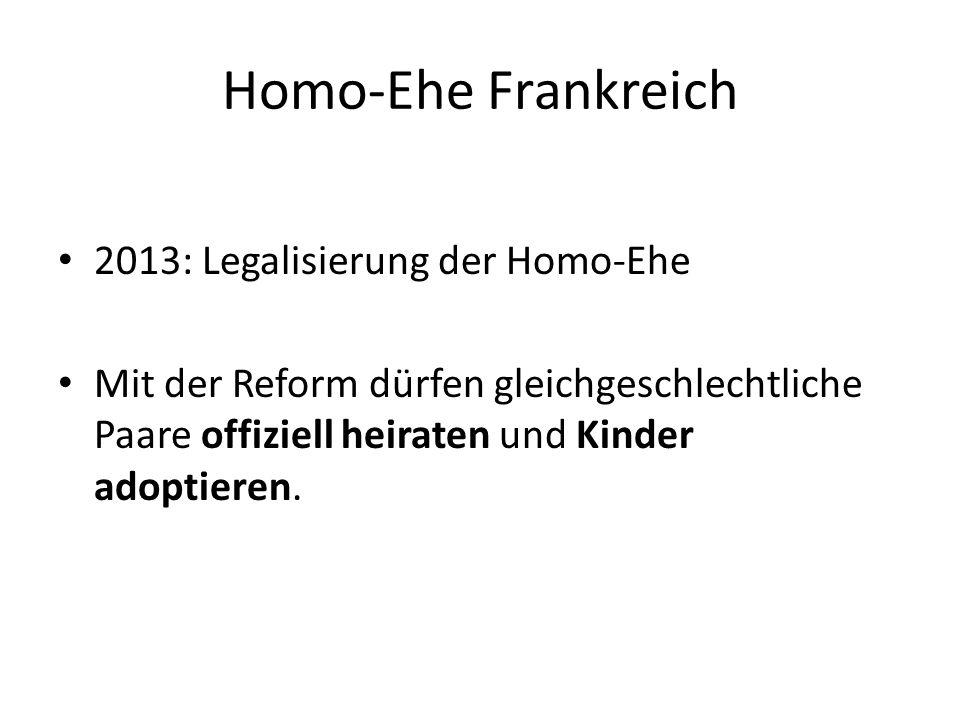 Homo-Ehe Frankreich 2013: Legalisierung der Homo-Ehe