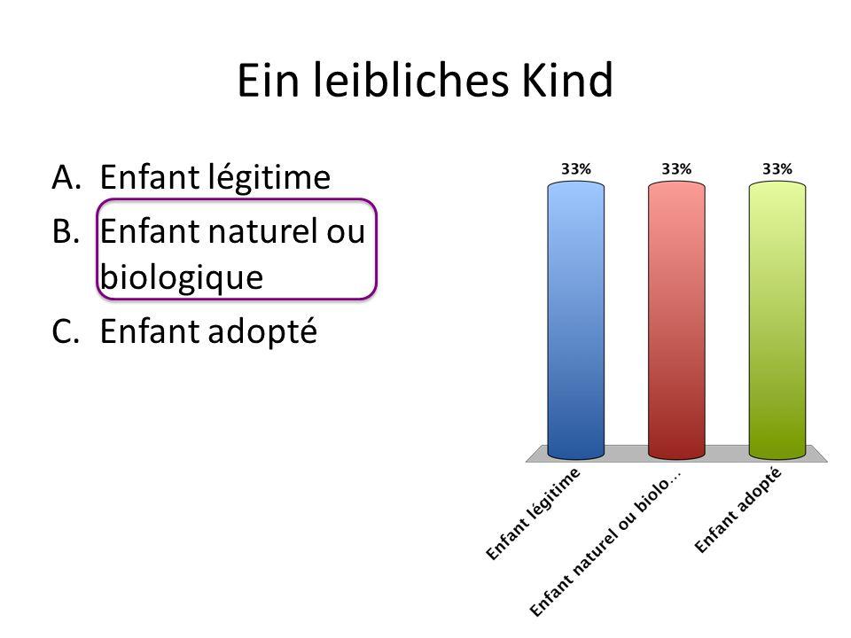 Ein leibliches Kind Enfant légitime Enfant naturel ou biologique
