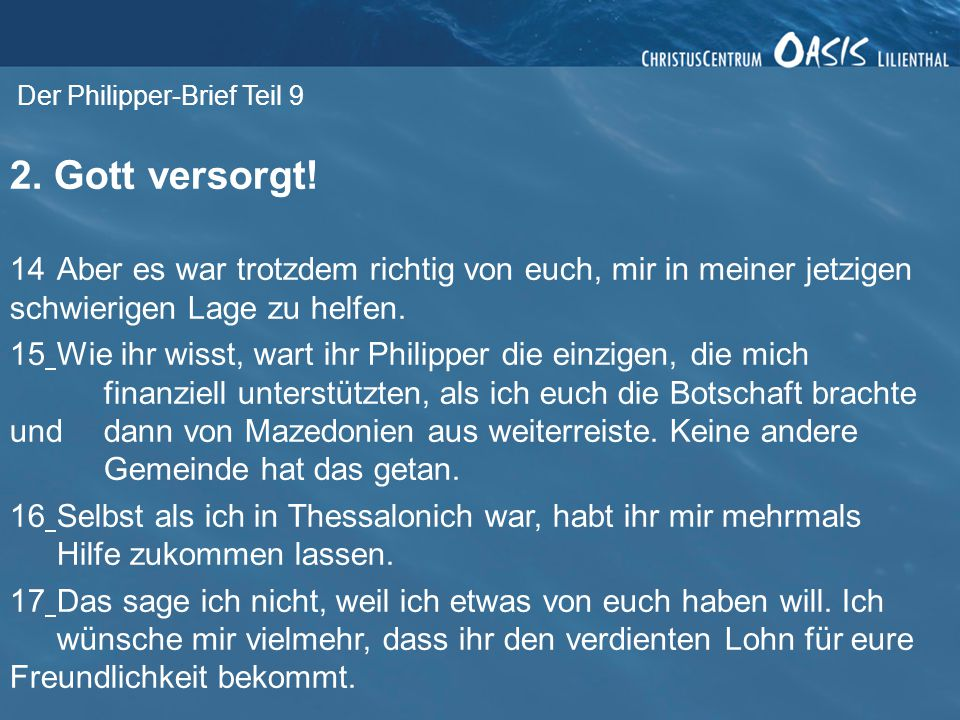 Der Philipper-Brief Teil 9