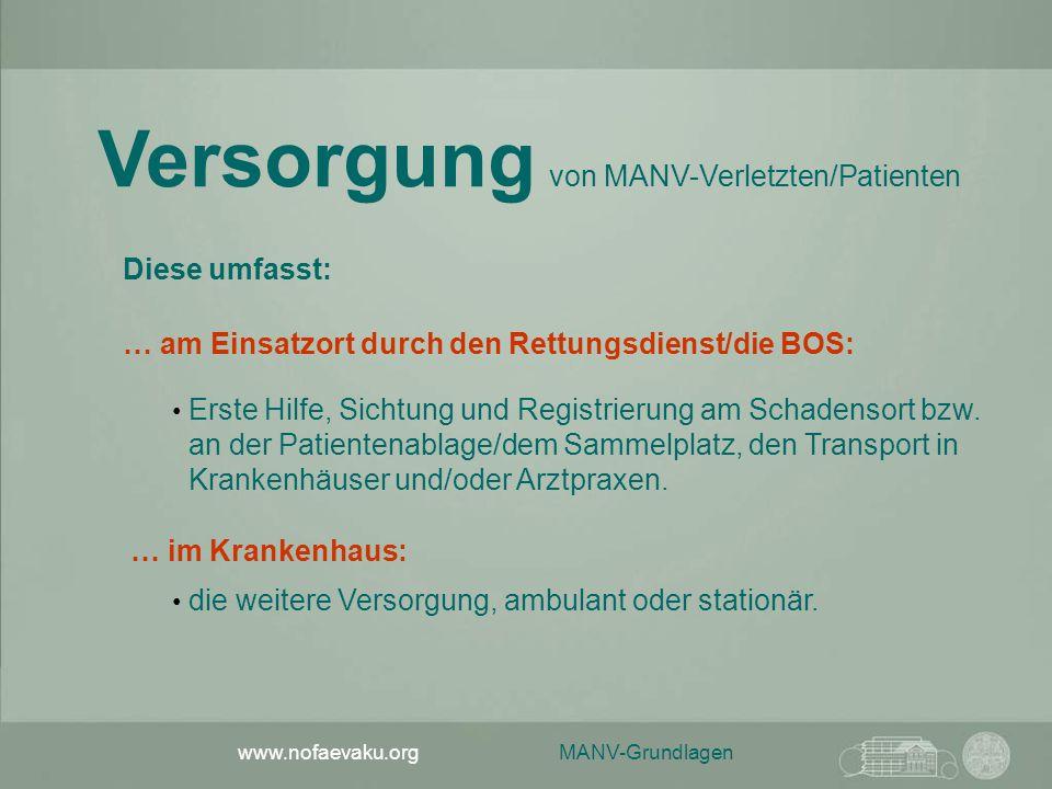 Versorgung von MANV-Verletzten/Patienten