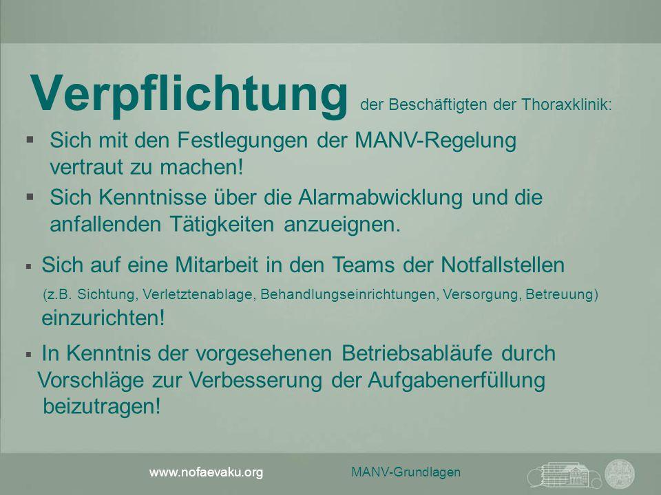 Verpflichtung der Beschäftigten der Thoraxklinik: