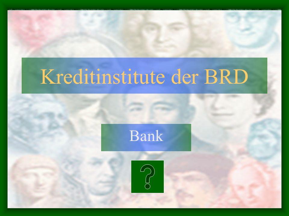 Kreditinstitute der BRD