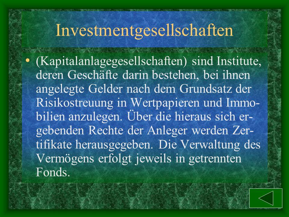 Investmentgesellschaften